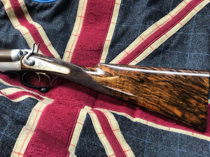 A complete renovation on old hammer gun Purdey & Sons under lever. New stock and forend made and a complete of the metal work. The result is simply superb.