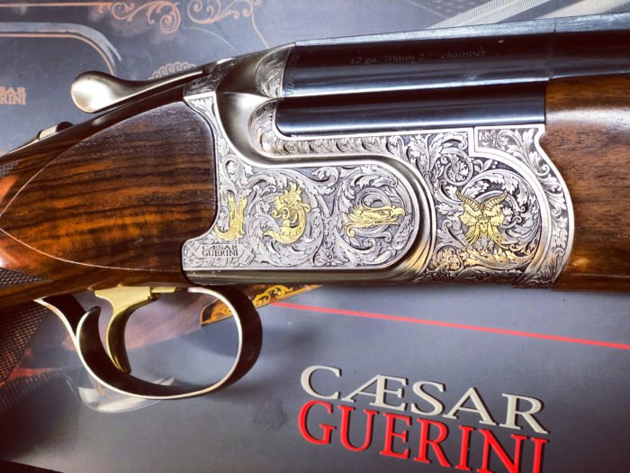 Caesar Guerini Invictus 3 Sporter 12 bore with a superb walnut gunstock and stunning engraving. Available in Sporter, Ascent Sporter and Trap.