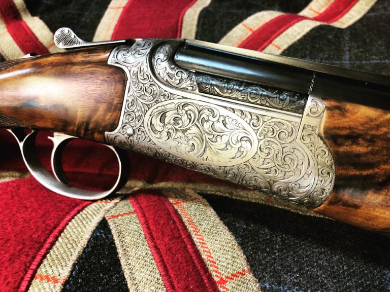 Chapuis C135 Artisan shotgun. Richly engraved and fitted with exquisite wood.