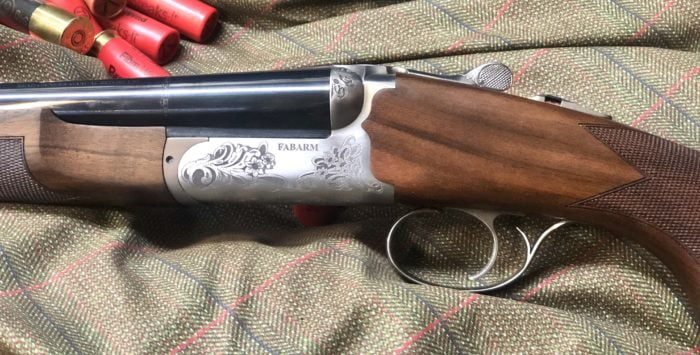 Side by Side Fabarm Classis 20 bore multi chokes and single trigger.