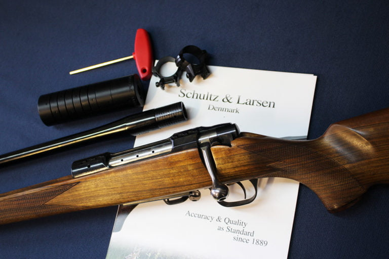 Schultz & Larsen rifle, left-handed with detachable barrel