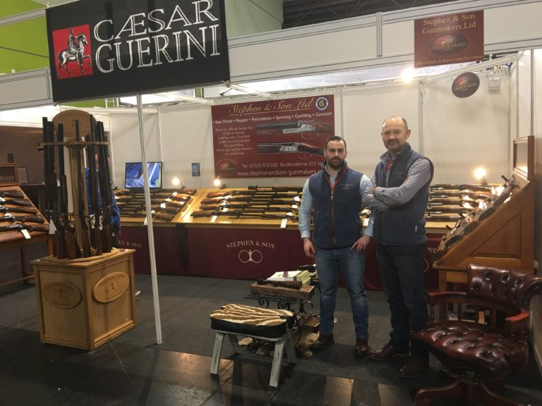 Stephen & Son Ltd stand at the Shooting Show in Birmingham