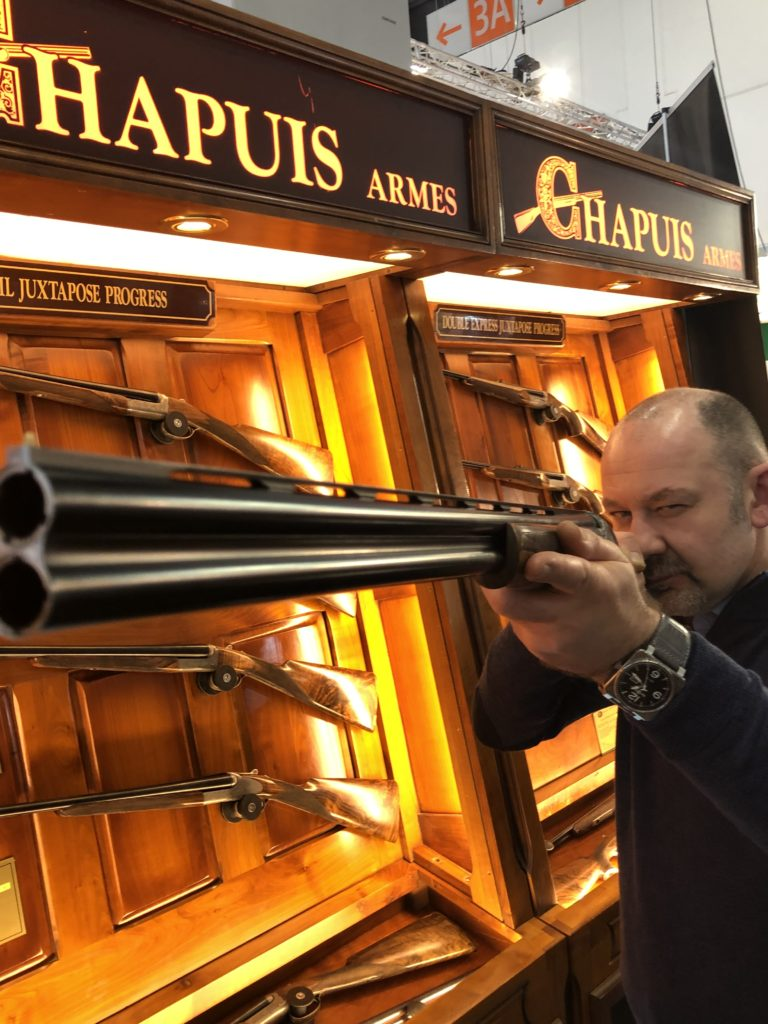 Visiting the Chapuis Armes stand at the IWA show in Nuremberg, Germany.