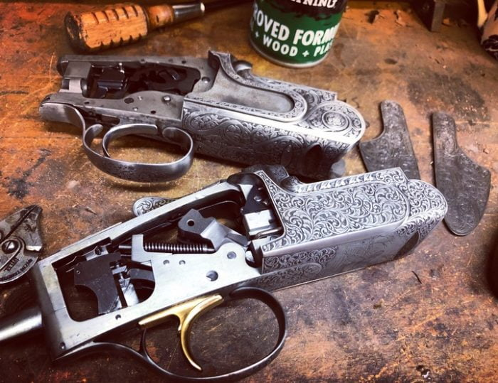 Strip, clean and inspection on any brand of gun here at our Harlington workshop.
